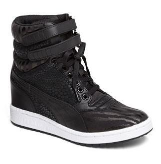 Sky Wedge Reptile Sneakers ($90)