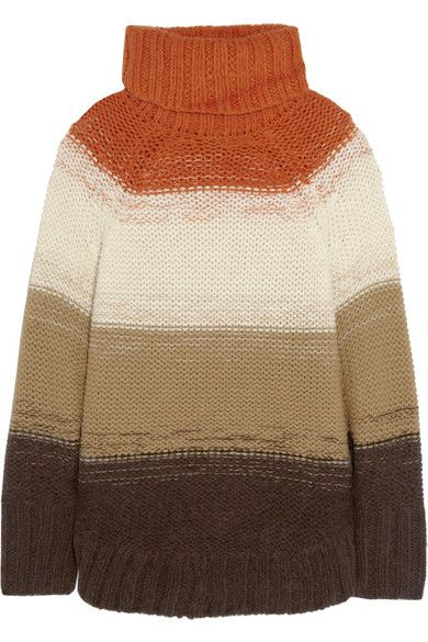 MICHAEL Michael Kors  Striped Knitted Poncho-Style Sweater