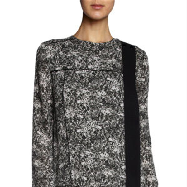 Proenza Schouler  Long Sleeve Asymmetric Front Dress