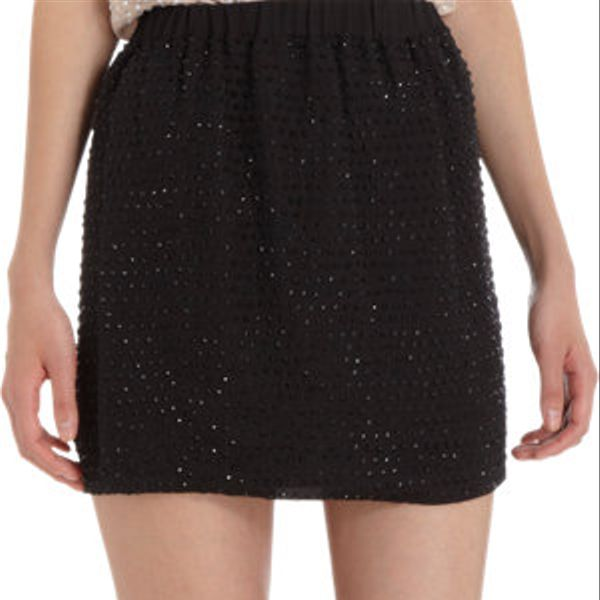 L'Agence  Jeweled Mini Skirt