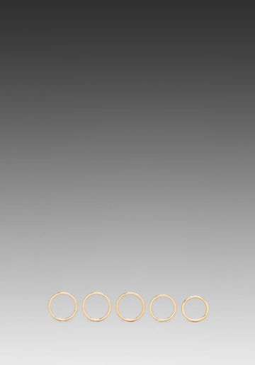Luv AJ  The Petite Band Ring Set of 5