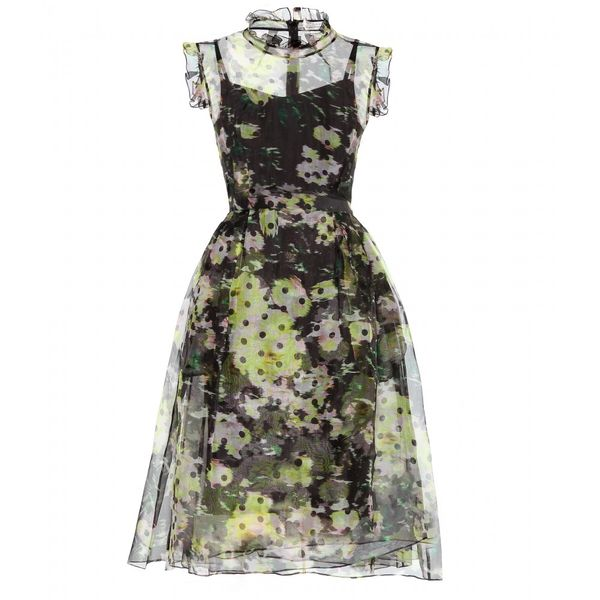 Erdem  Clarity Printed Silk-Organza Dress