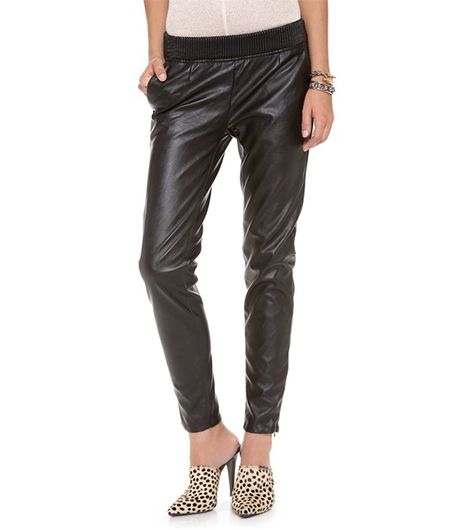 Blank Denim Slouchy Vegan Leather Trousers ($108)