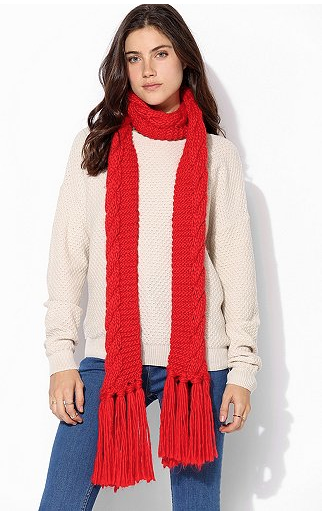 Urban Outfitters  Classic Cable-Knit Scarf
