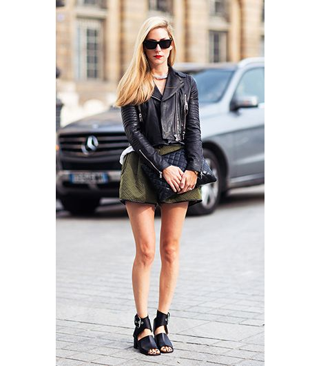 Joanna Hillman  The Harper's Bazaar editor is an endless source of inspiration, and her outfit including this J Brand jacket and 3.1 Phillip Lim shorts at Paris Fashion Week was no...