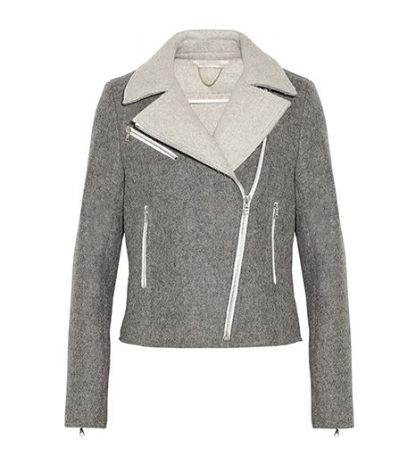 Vanessa Bruno Lace-Up Wool-Blend Felt Biker Jacket ($820)
