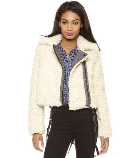 Free People Shaggy Moto Jacket