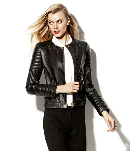 Vince Camuto Leather Moto Jacket ($499)