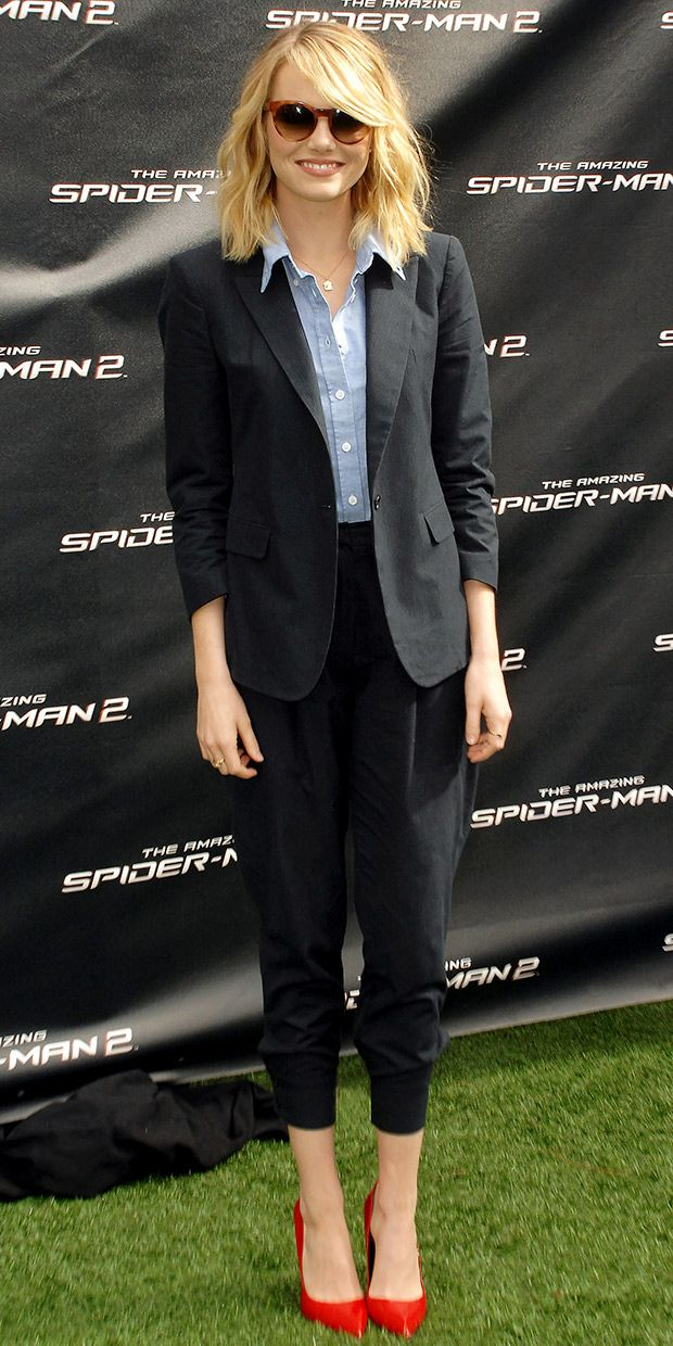 Emma Stone Promotes The Amazing Spider-Man 2