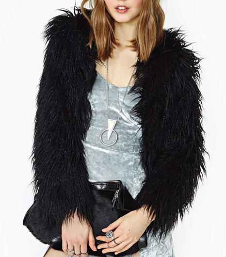 Nasty Gal Nasty Gal Always Ready Faux Fur Jacket