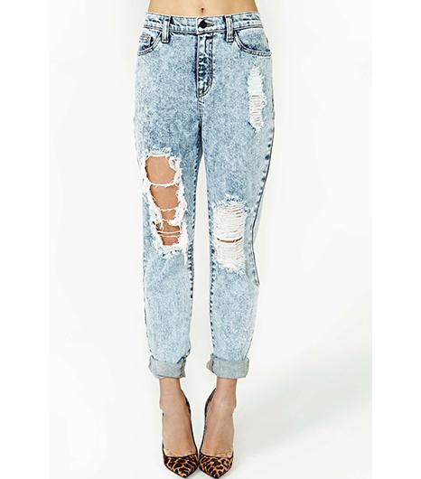 Nasty Gal Acid Test Boyfriend Jeans