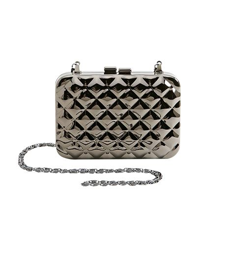 Nasty Gal Quilted Metal Clutch