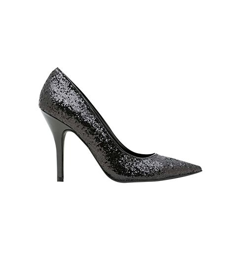 Nasty Gal Shoe Cult Lux Black Glitter pump,