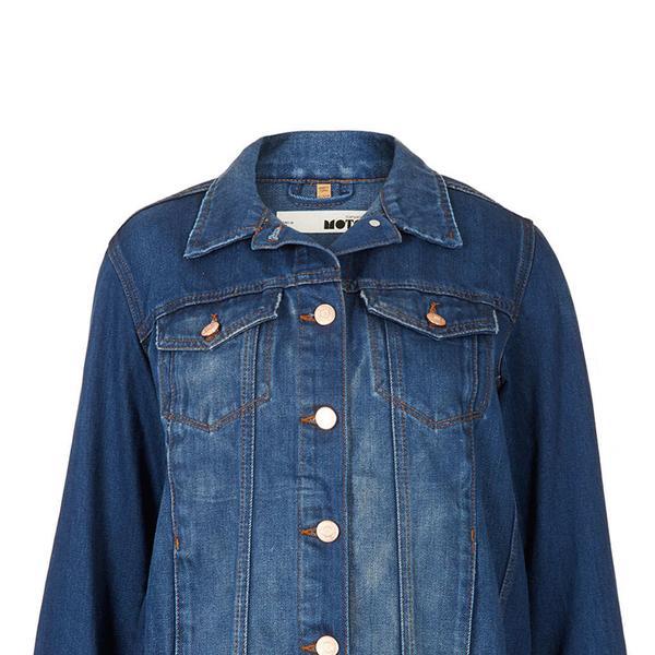 Topshop  Topshop Moto Blue Western Jacket