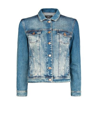 Mango Mango Vintage Wash Denim Jacket
