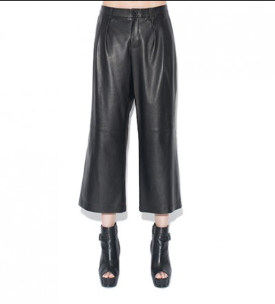 Monika Chiang Monika Chiang Leather Cropped Parallel Pant