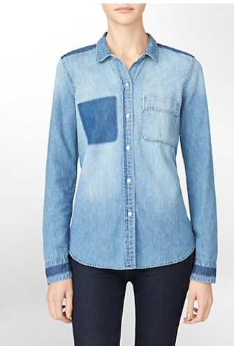Calvin Klein Jeans Calvin Klein Jeans Detailed Long Sleeve Denim Shirt