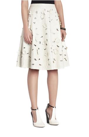 BCBG Elsa Flower Cutout A-Line Skirt  BCBG Elsa Flower Cutout A-Line Skirt