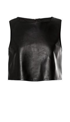 Tibi L Tibi Leather Cropped Top