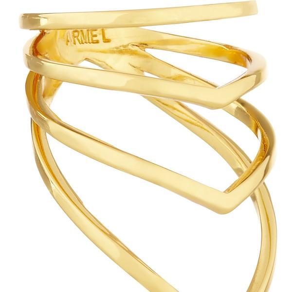 Arme De L'Amour  Arme De L'Amour Gold Plated Chevron Ring