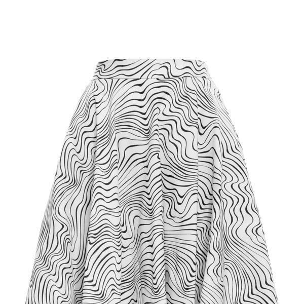 MSGM  MSGM Optical Print Circle Skirt