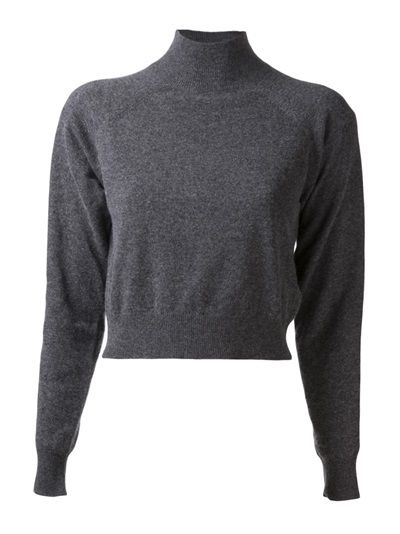 T By Alexander Wang  T By Alexander Wang Cropped Turtleneck Sweater