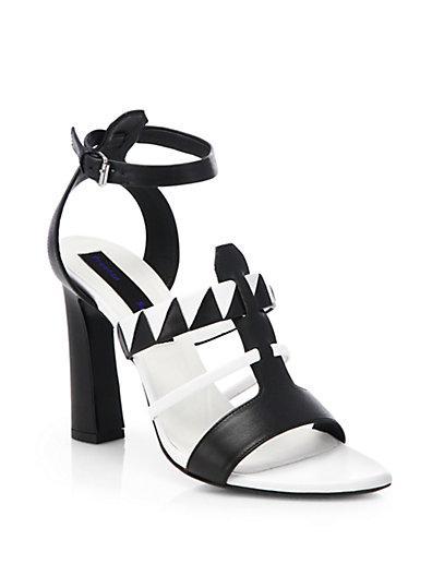 Proenza Schouler  Proenza Schouler Black & White Leather Sandals