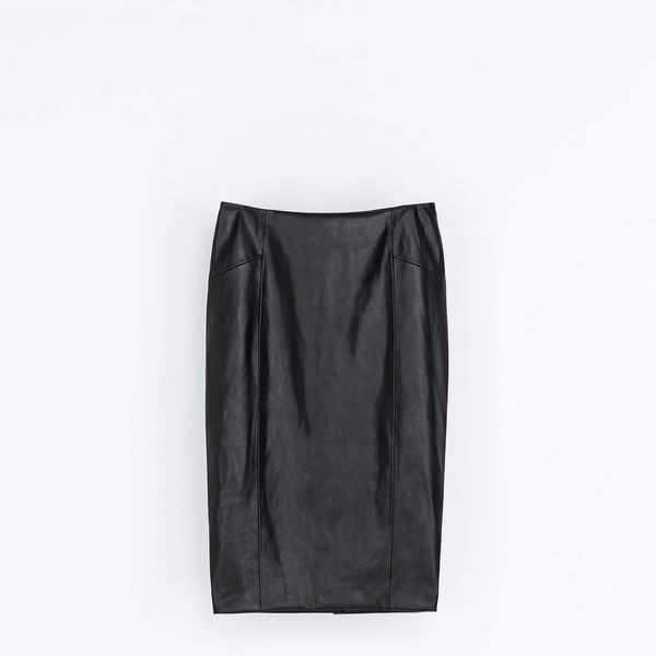 Zara  Zara Synthetic Leather Pencil Skirt