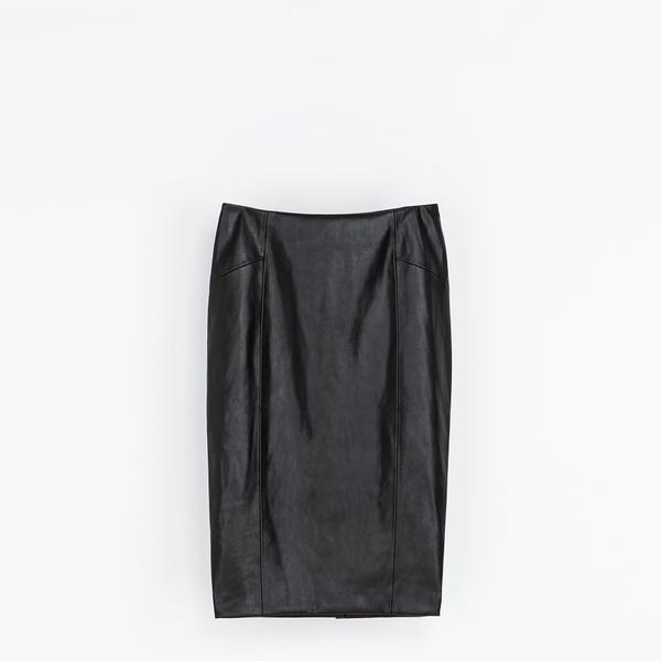 Zara  Zara Synthetic Leather Pencil Skirt