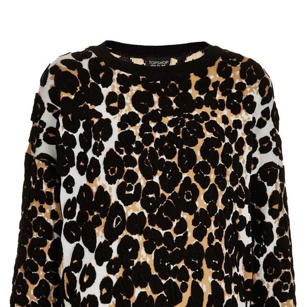 Topshop  Knitted 3D Leopard Jumper