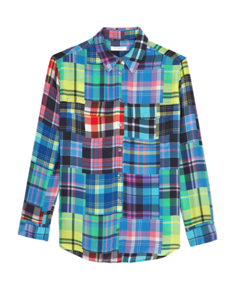 Equipment  Signature Plaid Print Silk Shirt