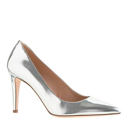 J.Crew  Everly Mirror Metallic Pumps