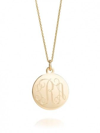 Sarah Chloe  Sophia Monogram Necklace