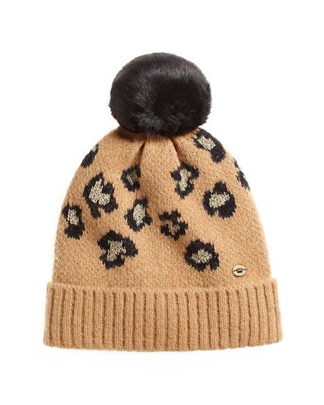 Juicy Couture  Fiercely Spotted Leopard Print Beanie
