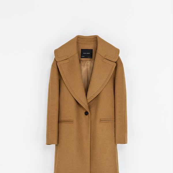 Zara  Coat With Large Lapel