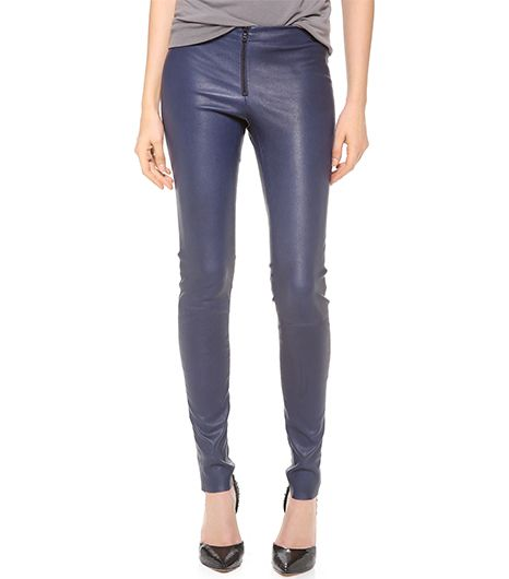 Alice + Olivia  Alice + Olivia Zip Front Leather Leggings