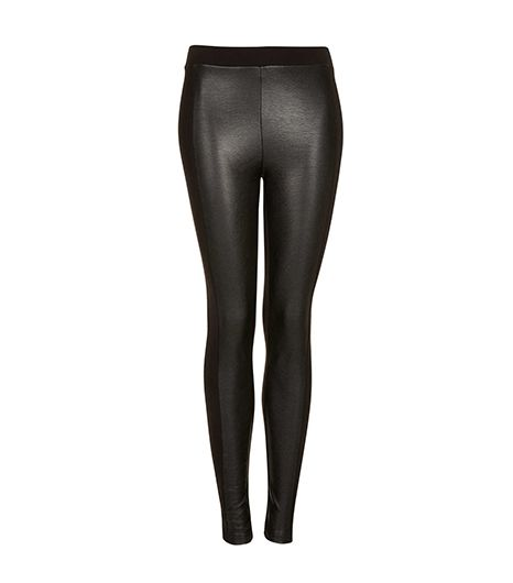 Topshop Topshop Leather Look Front Leggings