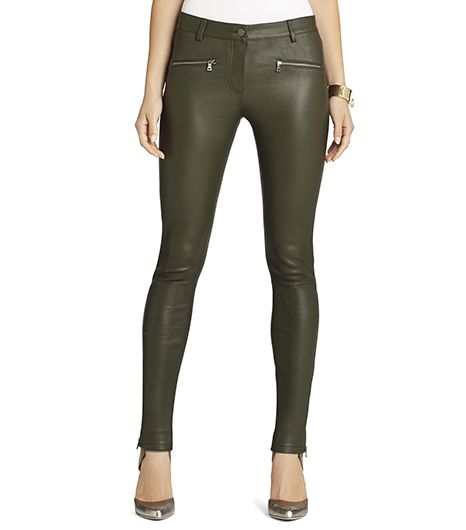 BCBGMAXAZRIA BCBGMAXAZRIA Gayl Zip-Pocket Leather Legging