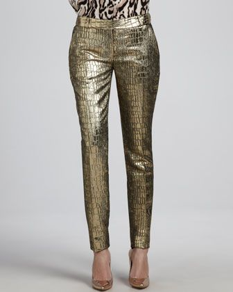 Diane von Furstenberg  Mary Metallic Slim Pants