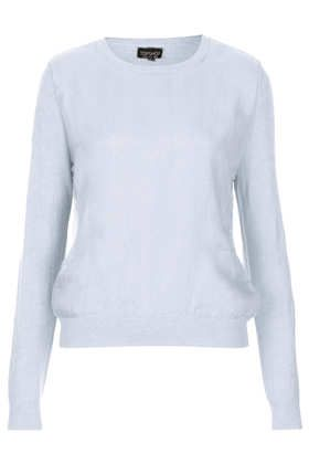 Topshop  Knitted Organza Panel Jumper