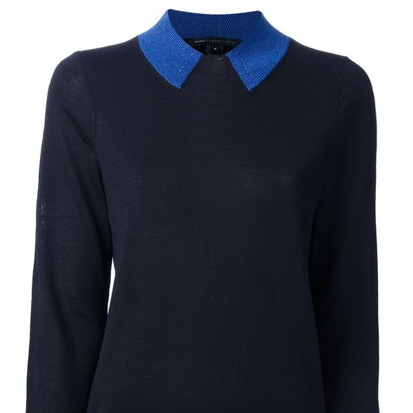 Marc by Marc Jacobs  Contrasting Neck Sweater