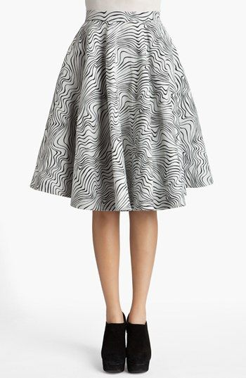 MSGM  Optical Wave Full Skirt