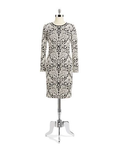 Vince Camuto  Long Sleeve Printed Dress