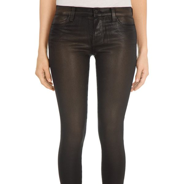 J Brand Leather Maria in Noir