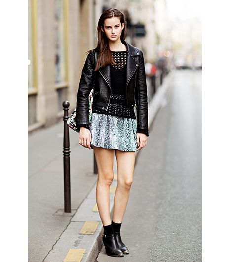8. Fail-Proof Pair: Moto Jacket & Mini Skirt