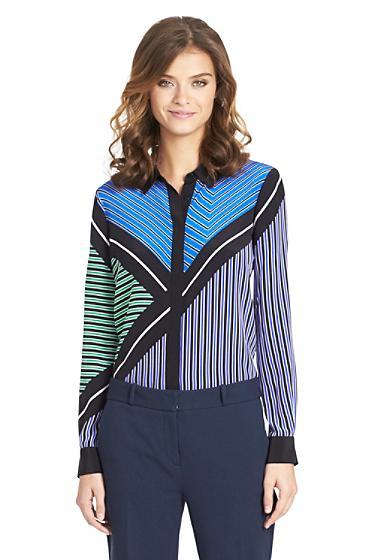 Diane von Furstenberg  Valentina Printed Silk Blouse