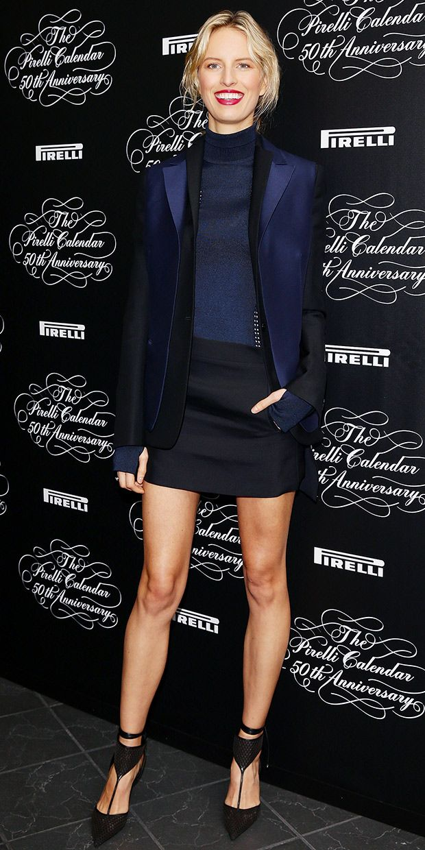 Karolina Kurkova At The Pirelli Calendar 50th Anniversary Conference.