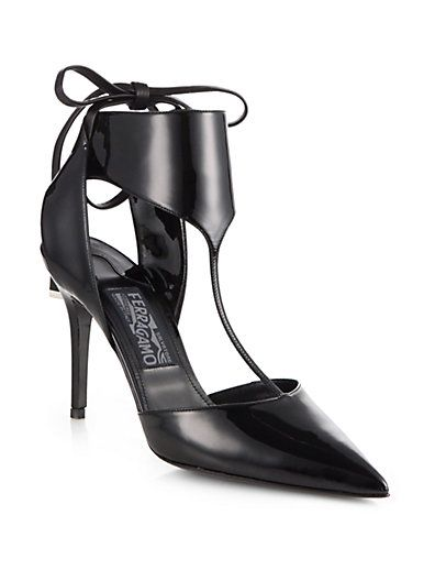 Salvatore Ferragamo  T-Strap Pumps