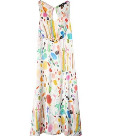 Samantha Pleet Palette Print Exhibition Dress