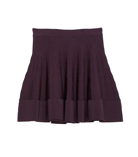 A.L.C. Exclusive Rib Seam Detail Flare Skirt